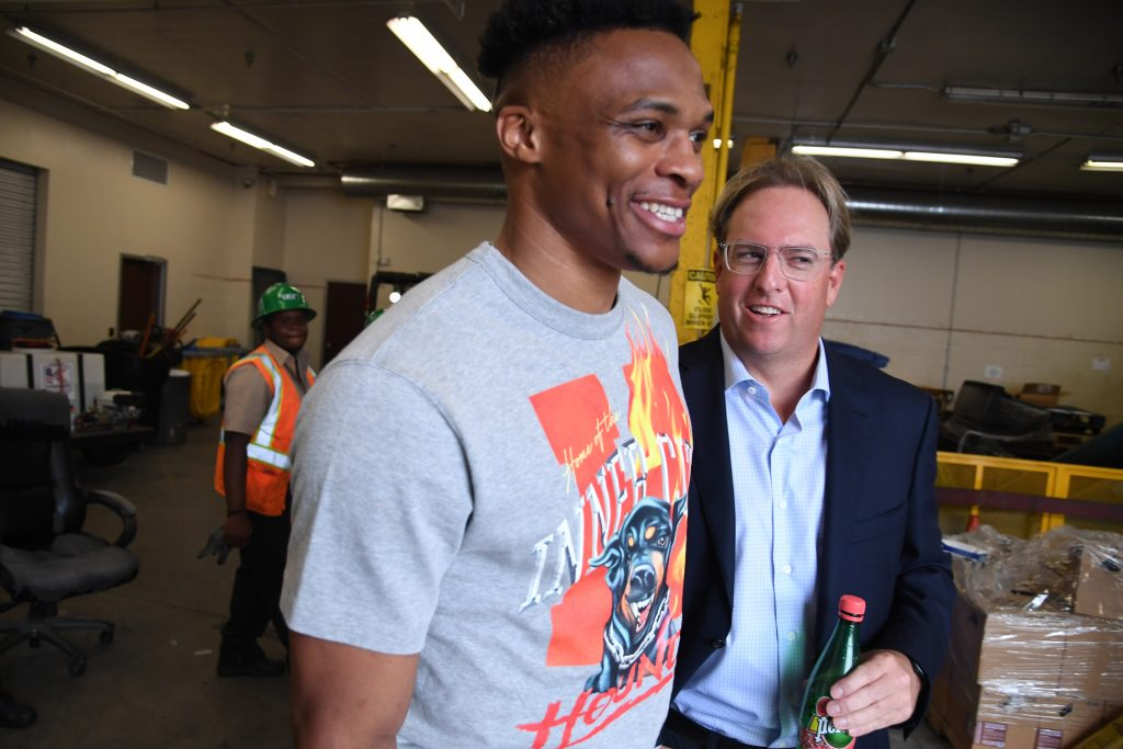 Philanthropist Chad Brownstein and Russel Westbrook
